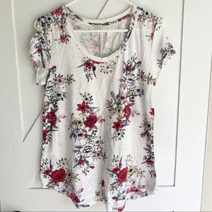 Maurices Floral Cold Shoulder Top